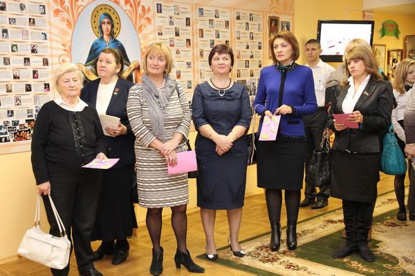 Поздравление женщин Фрунзенского района в музее матери