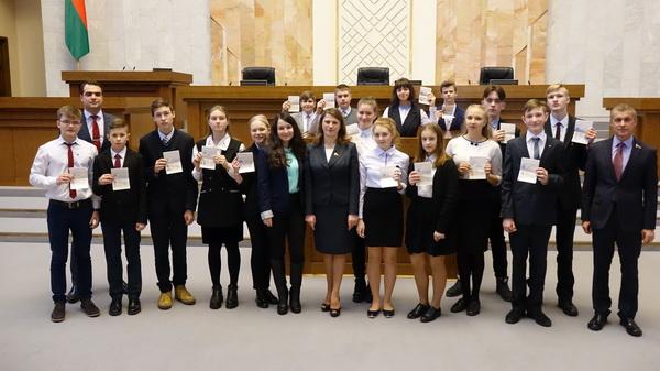 Вручение паспортов учащимся Фрунзенского района